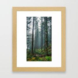Creeping mist Framed Art Print