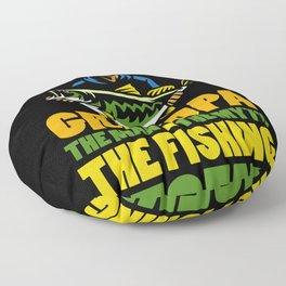 Grandpa The Man The Myth The Fishing Legend Gift for Dads Raglan Baseball design Floor Pillow