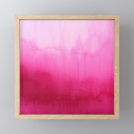 Modern fuchsia watercolor paint brushtrokes Framed Mini Art Print