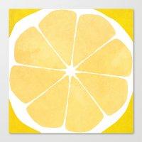 lemon Canvas Prints featuring Lemon by Make-Ready