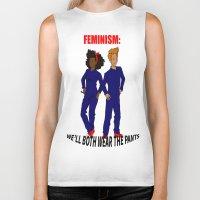 feminism Biker Tanks featuring feminism by nodoart