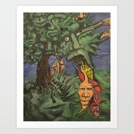Personalitree Art Print