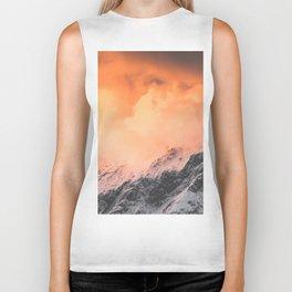 Sunset over Mount Aspiring Biker Tank