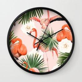 Flamingo Guava #society6 #decor #buyart Wall Clock