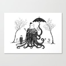 Young Master Lovecraft Finds A Friend Canvas Print