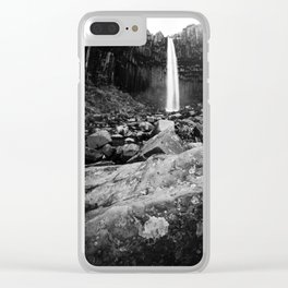 Svartifoss Waterfall Iceland Clear iPhone Case