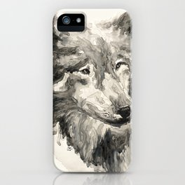 Gray Wolf iPhone Case