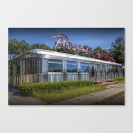 Historic Rosie's Diner by Rockford Michigan Canvas Print