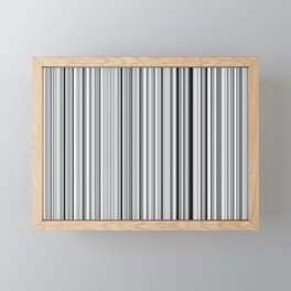 Old Skool Stripes - 50 Shades of Gray Framed Mini Art Print