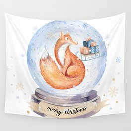 Christmas fox #1 Wall Tapestry