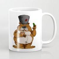 russian Mugs featuring Russian Bear by Michelena
