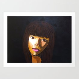 face in the dark Art Print