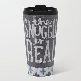 the snuggle is real Travel Mug