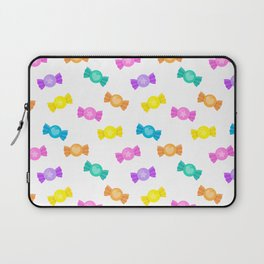 Cute Rainbow Candy Shop Pattern – Pastel Colors Laptop Sleeve