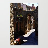street Canvas Prints featuring street by  Agostino Lo Coco