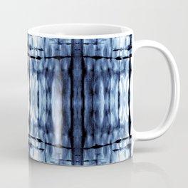Blue Shibori Plaid Coffee Mug
