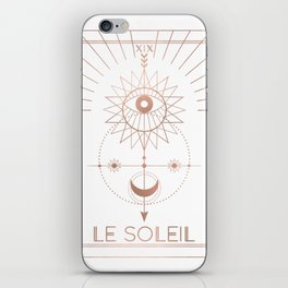 Le Soleil or The Sun Tarot White Edition iPhone Skin