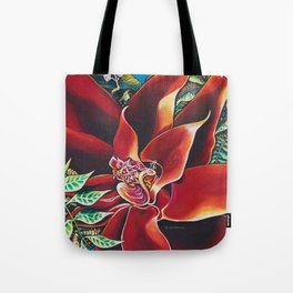 The Red Flower: Julie Northey Tote Bag