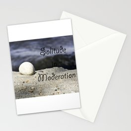 Solitude in Moderation Stationery Cards