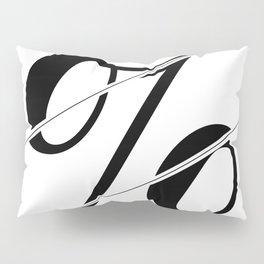 """Sliced Collection"" - Minimal Percent Sign Print Pillow Sham"