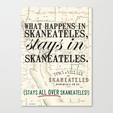 all over Skaneateles Canvas Print