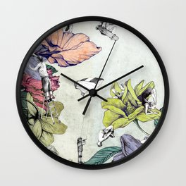 Flower forest Wall Clock