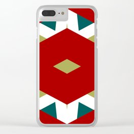 CVPA20098 Benny Frank Red Green Blue White Clear iPhone Case