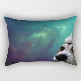 Dog, Garlic & Space Rectangular Pillow