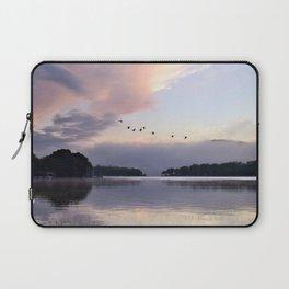 Uplifting: Geese Rise at Dawn on Lake George Laptop Sleeve