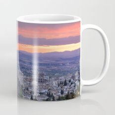 The alhambra and Granada city at sunset Mug