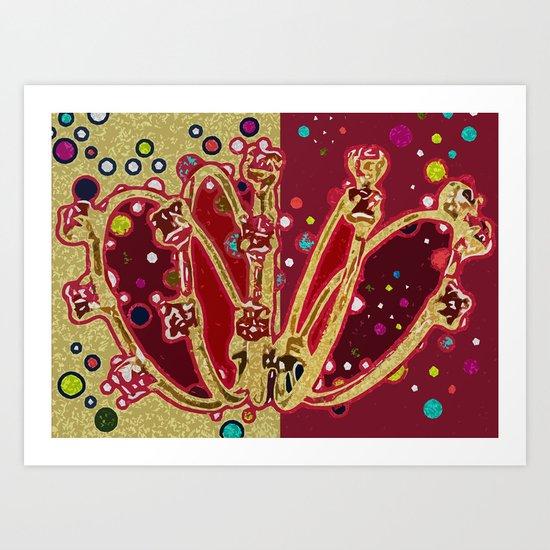 5 Golden Rings - 12 Days of Christmas Series Art Print