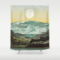 ariana grande Shower Curtains featuring Rio Grande by Ruth Shaffer Art and Designs