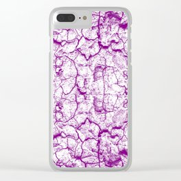 Purple Earth Clear iPhone Case