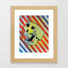 Box Skull Framed Art Print