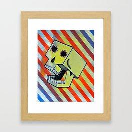 Box Skull Framed Art Print