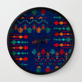 -A17- Anthropologie Moroccan Blue Artwork. Wall Clock