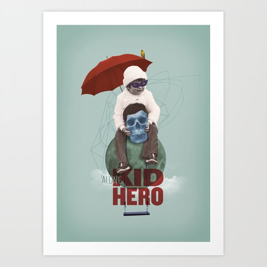KID HERO Art Print