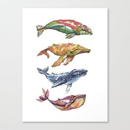 The Whales Canvas Print