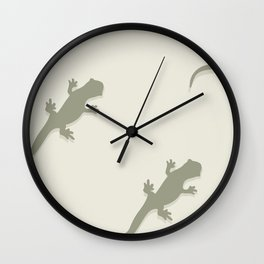 Leaping Lizards Wall Clock