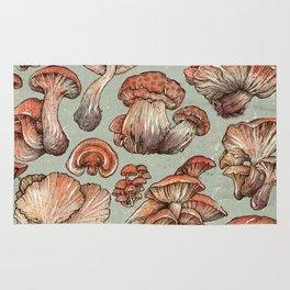 A Series of Mushrooms Rug