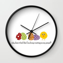 Waiting on Peeps on Easter Wall Clock