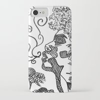afro iPhone & iPod Cases featuring Afro  by Camila Rodrigué