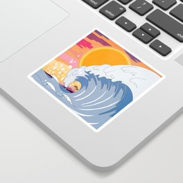 Sunset wave Sticker