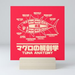 Tuna Anatomy Japanese Maguro Sushi - Red Mini Art Print