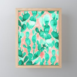 Paddle Cactus Blush Framed Mini Art Print