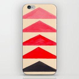 Vintage Scandinavian Red Geometric Triangle Pattern iPhone Skin