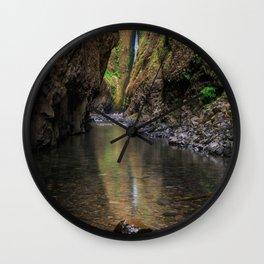 Oneonta Falls - Columbia River Gorge, Oregon Wall Clock