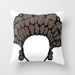 Hairstyle for women in the Ancient Rome. Throw Pillow