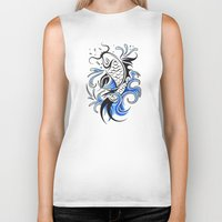koi fish Biker Tanks featuring Koi Fish  by JonathanStephenHarris