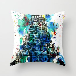 imaginary city 2 Throw Pillow